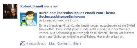 facebook like newsletter