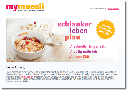 mymuesli newsletter