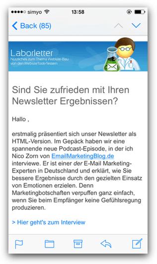 newsletter2go responsive