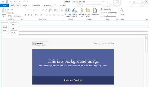 outlook html newsletter