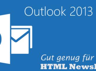 Outlook 2013 für Newsletter