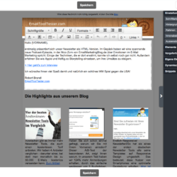 cleverreach newsletter editor