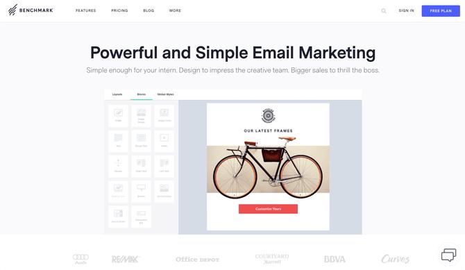 Benchmark free email marketing service