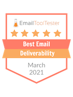 best email deliverability 2021 award
