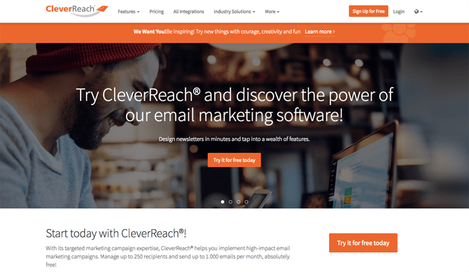 CleverReach free email marketing service