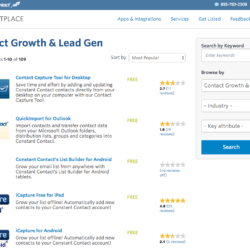 Constant Contact marketplace