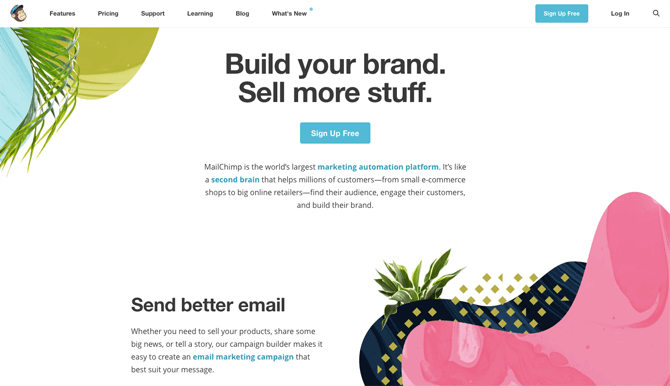Mailchimp free email marketing service