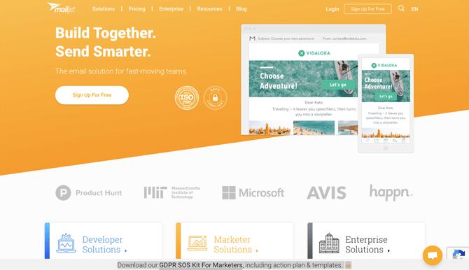 MailJet free email marketing service