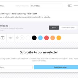 Mailjet form editor