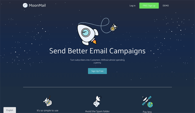 MoonMail free email marketing service