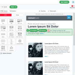 rapidmail email editor