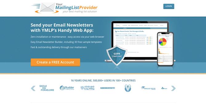 YMLP free email marketing service