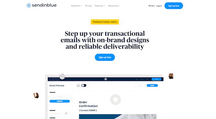 sendinblue transactional email