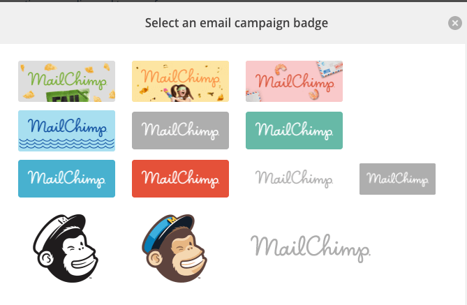 Mailchimp Badge