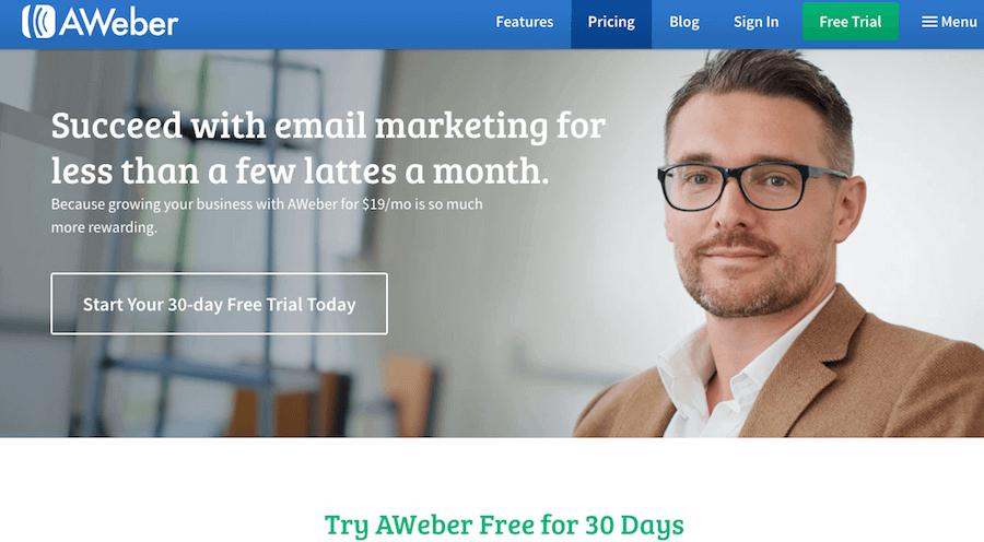 AWeber pricing detals
