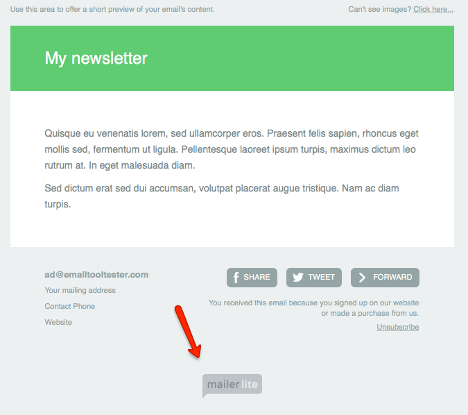 milerlite free email badge