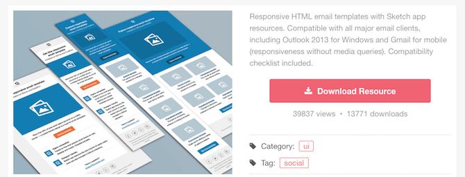 sketchappresources newsletter templates