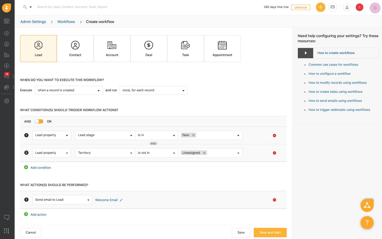 freshworks email automation