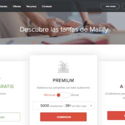 Los precios de Mailify