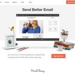 Homepage mailchimp