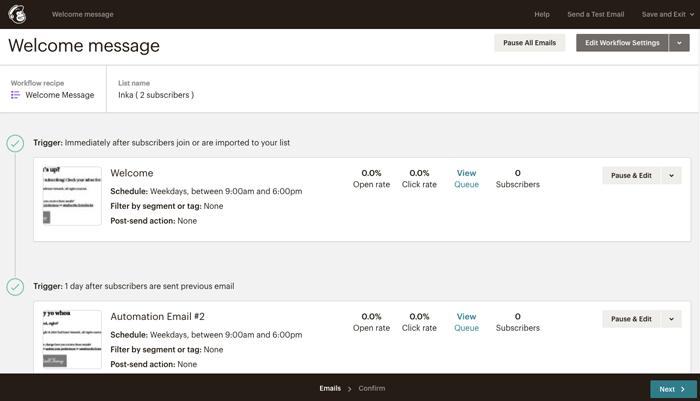 MailChimp free autoresponder