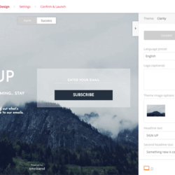 Omnisend free landing page