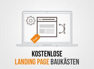 landing page baukästen