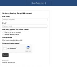 activecampaign formulare