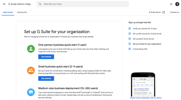 g suite setup guide