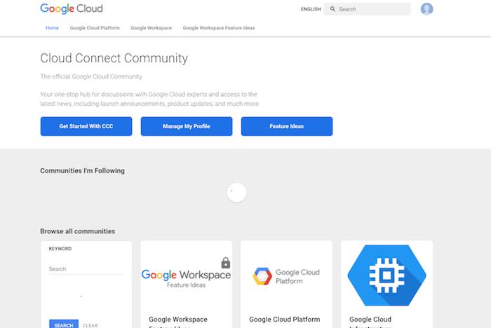 google cloud connect community