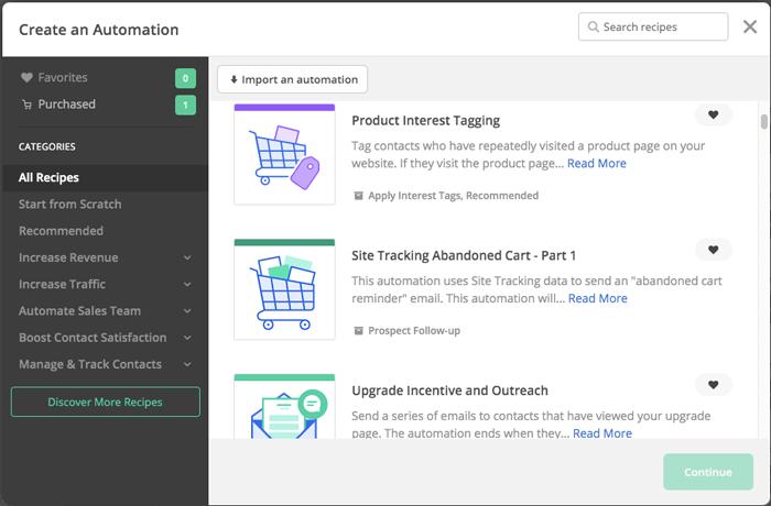 activecampaign automation templates