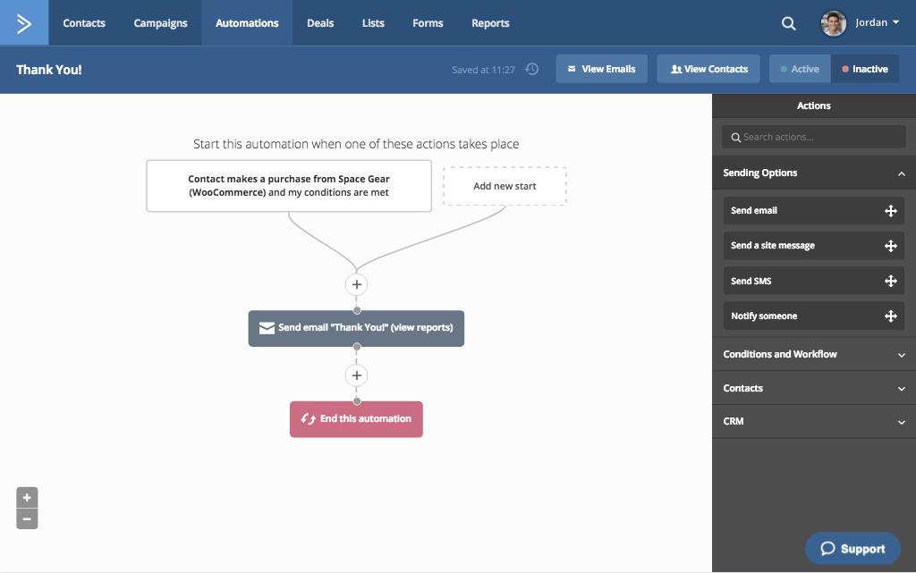 activecampaign deepdata workflow