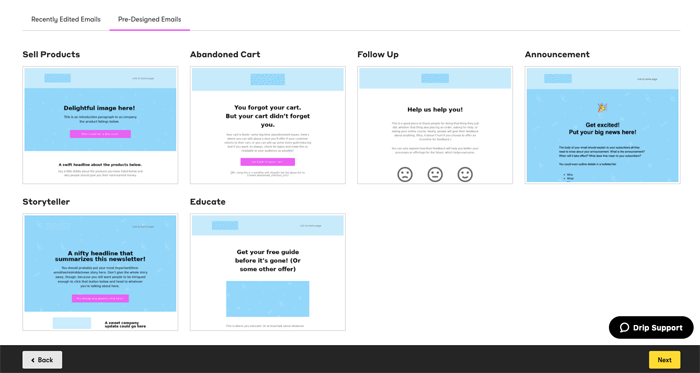 drip email templates