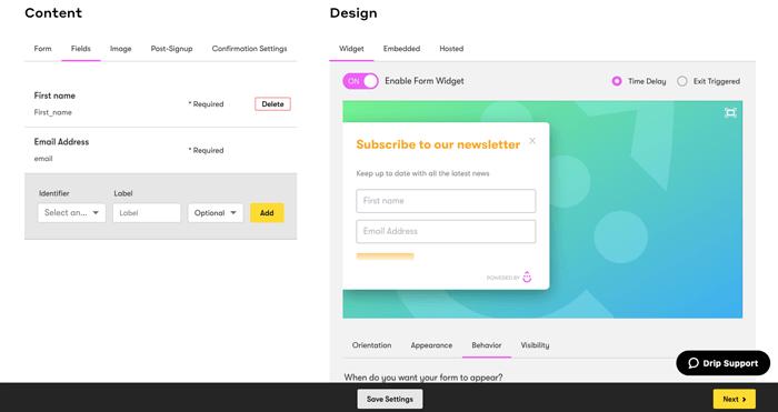 drip form editor