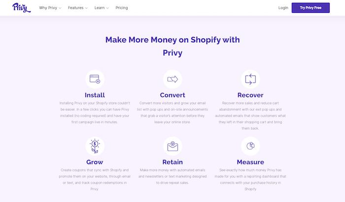 privy for shopify