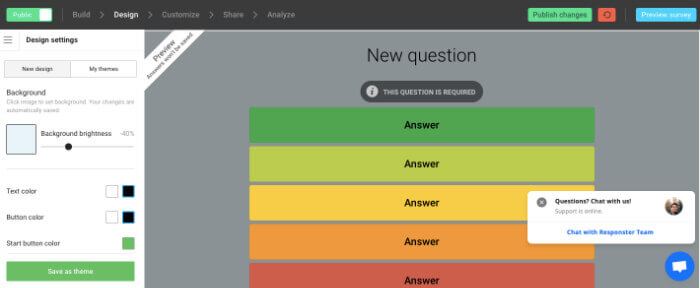 responster free survey tools