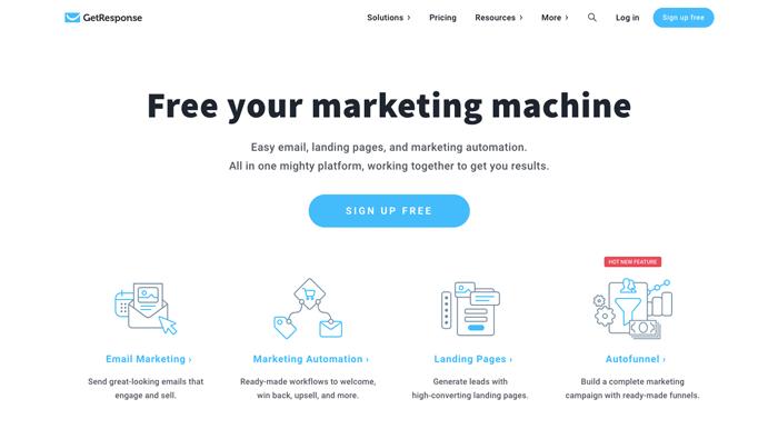 shopify email marketing getresponse