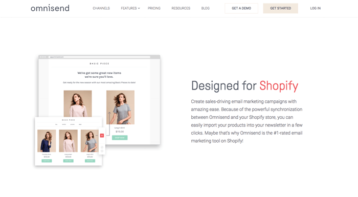 shopify email marketing omnisend