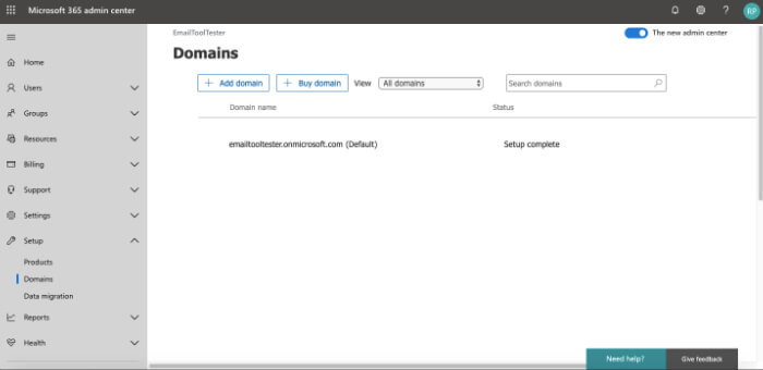 Office 365 review domain setup