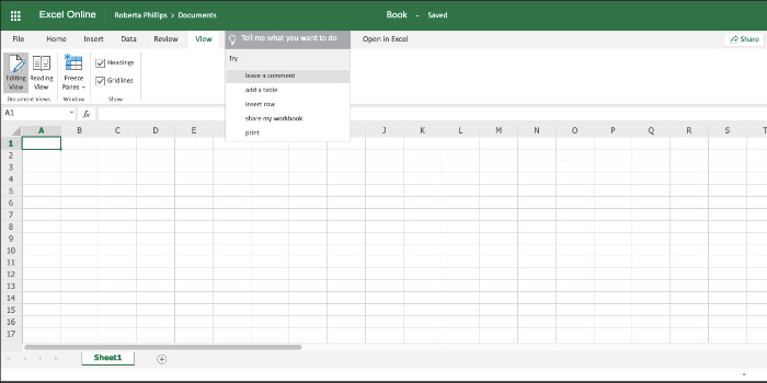 Office 365 review excel