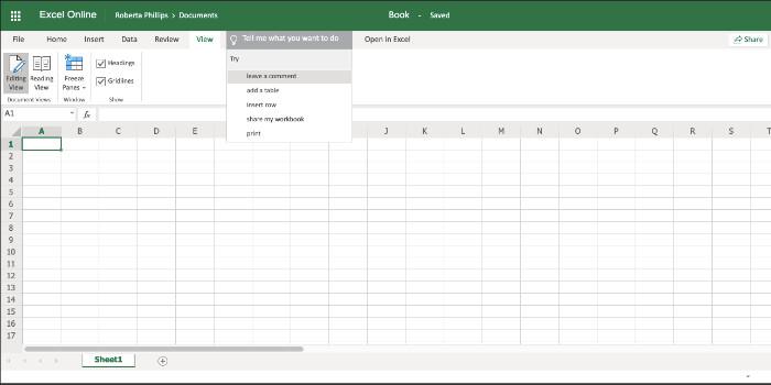 Revisão do Office 365 excel