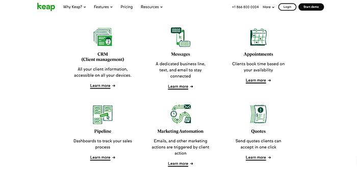 Sales funnel software: Keap