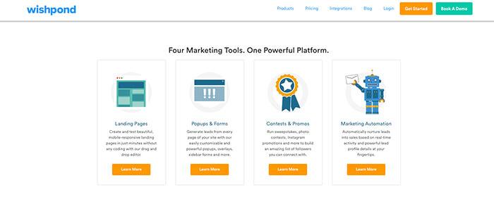Sales funnel software: Wishpond