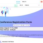 AidaForm registration form