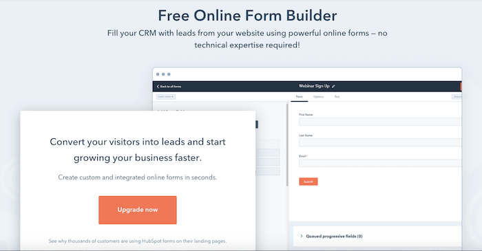 Best online form builder - HubSpot