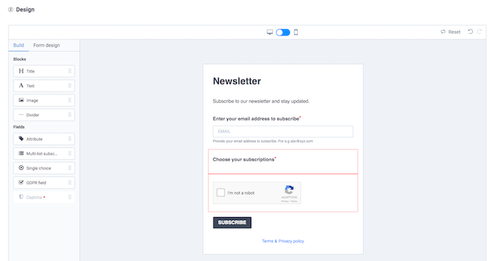 sendinblue vs mailchimp registration form