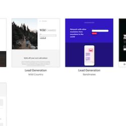 Mailchimp landing pages templates