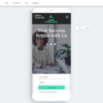 Wix landing pages - mobile