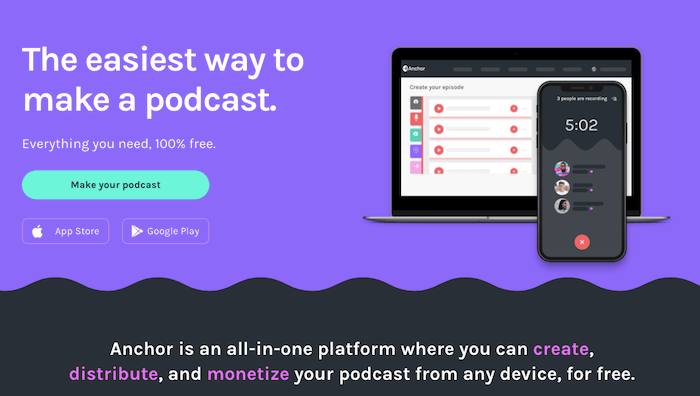 anchor podcast hosting