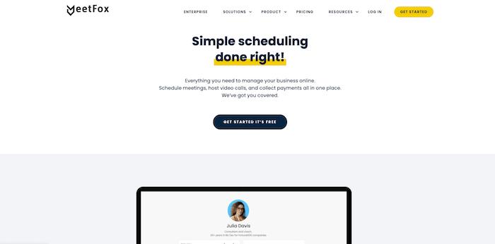 meetfox scheduling app